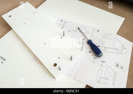 Ikea Self Assembly Furniture And Instructions Stock Photo 183637894