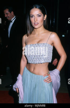 10 Oct 1999, Los Angeles, California, USA --- Original caption: Actress Salma Hayek is shown arriving at the American Cinemathque's 14th Annual Moving Picture Ball honoring actress Jodie Foster. The event was held at the Beverly Hilton in Beverly Hills, California. --- ' Tsuni / USA 'Salma Hayek  Salma Hayek  Celebrities fashion / Three Quarters from the Red Carpet-1994-2000, one person, Vertical, Best of, Hollywood Life, Event in Hollywood Life - California,  Red Carpet Event, Vertical, USA, Film Industry, Celebrities,  Photography, Bestof, Arts Culture and Entertainment, , , Topix  Salma Hay - Stock Photo
