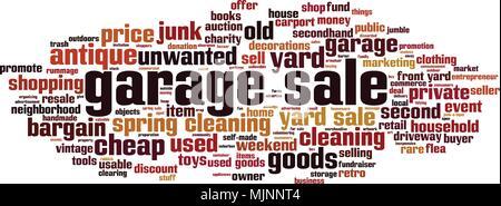 Garage sale word cloud concept. Vector illustration - Stock Photo