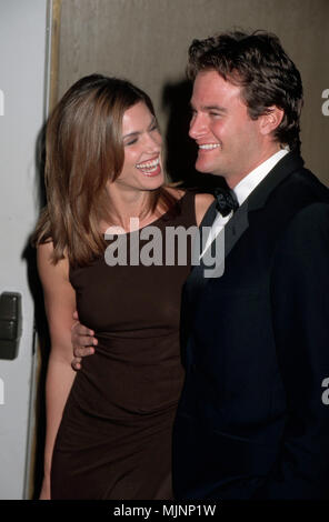 05 Mar 1998, Beverly Hills, California, USA --- Original caption: 3/5/1998-Beverly Hills, CA: Cindy Crawford and Rande Gerber at the St. Jude Children's Research Hospital Annual Benefit at the Beverly Hilton Hotel. --- ' Tsuni / Bourquard 'Cindy Crawford and Rande Gerber at Benefit Cindy Crawford and Rande Gerber at Benefit Cindy Crawford and Rande Gerber at Benefit Event in Hollywood Life - California,  Red Carpet Event, Vertical, USA, Film Industry, Celebrities,  Photography, Bestof, Arts Culture and Entertainment, Topix  Celebrities fashion /  from the Red Carpet-1994-2000, one person, Vert - Stock Photo