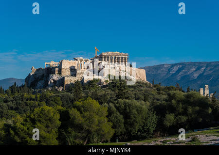 Acropolis hill in Athens, Greece - Stock Photo