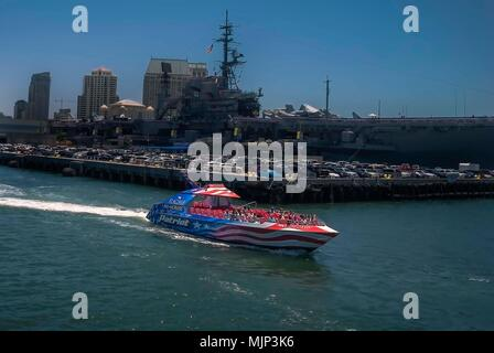 The Patriot Jet Boat in San Diego Bay, California - Stock Photo