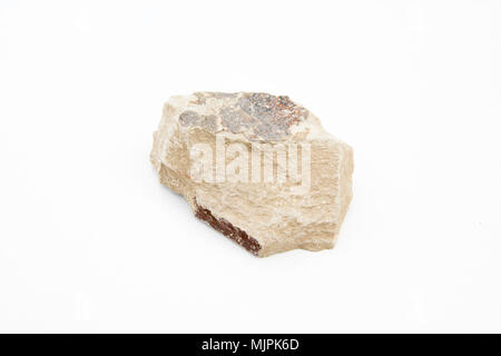 extreme close up with a lot of details of shale isolated over white background - Stock Photo