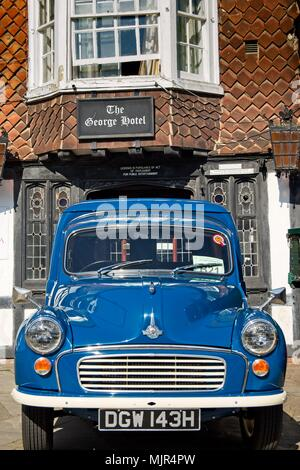 Crawley, UK. 6th May, 2018. Crawley's High Street provided the half way stopping point for participants in the 57th Historic Commercial Vehicle London to Brighton run of 2018. Credit: N Pope - Editorial/Alamy Live News. - Stock Photo