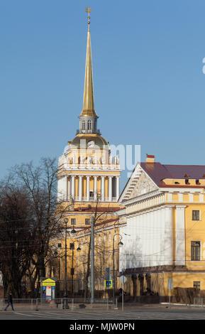 Admiralty building, Saint Petersburg, Russia. - Stock Photo