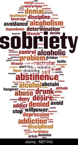 sobriety word cloud concept. Vector illustration - Stock Photo