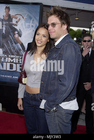 Jessica Alba and boyfriend Michael Weatherly - Dark Angel -  arriving at the Lara Croft: Tomb Raider premiere at the Westwood Village Theatre  in Los Angeles  June 11, 2001            -            AlbaJessica WeatherlyM17.JPG           -              AlbaJessica WeatherlyM17.JPGAlbaJessica WeatherlyM17  Event in Hollywood Life - California,  Red Carpet Event, Vertical, USA, Film Industry, Celebrities,  Photography, Bestof, Arts Culture and Entertainment, Topix Celebrities fashion /  from the Red Carpet-, Vertical, Best of, Hollywood Life, Event in Hollywood Life - California,  Red Carpet , USA - Stock Photo