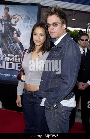 Jessica Alba and boyfriend Michael Weatherly - Dark Angel -  arriving at the Lara Croft: Tomb Raider premiere at the Westwood Village Theatre  in Los Angeles  June 11, 2001           -            AlbaJessica WeatherlyM19.JPG           -              AlbaJessica WeatherlyM19.JPGAlbaJessica WeatherlyM19  Event in Hollywood Life - California,  Red Carpet Event, Vertical, USA, Film Industry, Celebrities,  Photography, Bestof, Arts Culture and Entertainment, Topix Celebrities fashion /  from the Red Carpet-, Vertical, Best of, Hollywood Life, Event in Hollywood Life - California,  Red Carpet , USA, - Stock Photo