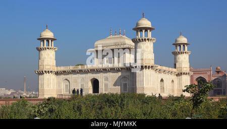 'Baby Taj' mausoleum in Agra -  a draft of the famous Taj Mahal. - Stock Photo
