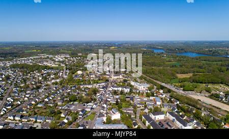 Aerial photography of La Chapelle sur Erdre in Loire Atlantique, France - Stock Photo