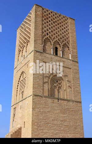 Hassan Tower a.k.a. Tour Hassan, Rabat, Morocco - Stock Photo