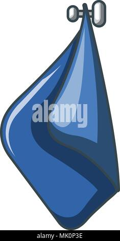 Blue towel icon, cartoon style - Stock Photo