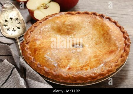 Homemade old fashioned Apple Pie - Stock Photo