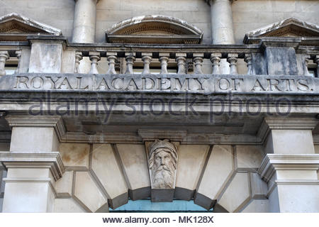 View of The Royal Academy of Arts inside Burlington House in Piccadilly London - Stock Photo