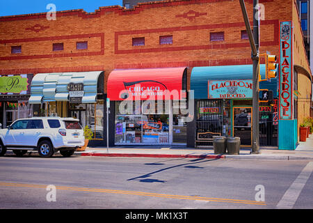 store front businesses in downtown walla walla washington state stock photo 111602627 alamy. Black Bedroom Furniture Sets. Home Design Ideas