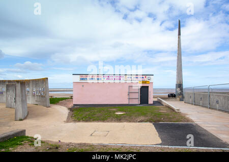 Beach cafe seafront  in Rhyl Denbighshire Wales UK - Stock Photo