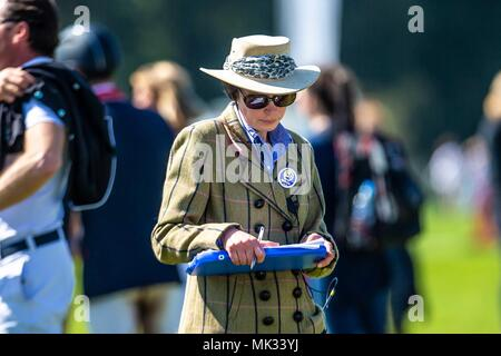 Gloucestershire, UK. 6th May 2018. Showjumping. Day 4. Steward. Official. Mitsubishi Badminton Horse Trials. Badminton. UK.  06/05/2018. Credit: Sport In Pictures/Alamy Live News - Stock Photo