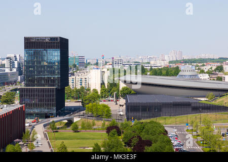 KATOWICE, POLAND - MAY 05, 2018: Entertainment hall called Spodek in city center of Katowice, Silesia. - Stock Photo