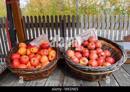 Fresh jonegold and topaz apples for sale,Germany - Stock Photo