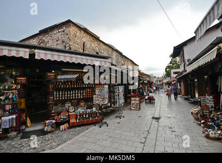 Sarajevo old bazaar, Bascarsija, Bosnia - Stock Photo