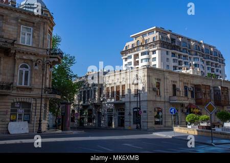 Baku city. Azerbaijan. Landmarks of beautiful city. Pictures taken on 06.05.2018 - Stock Photo