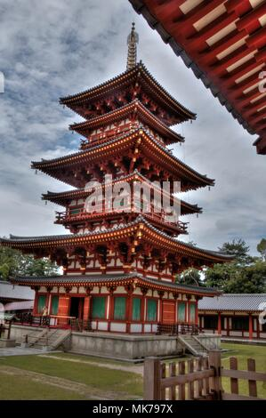 Yakushi-Ji is a religious Temple in the Nara Prefecture of Japan - Stock Photo