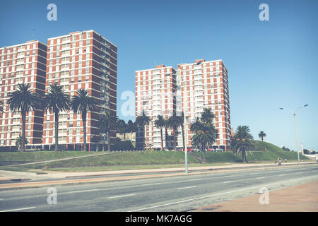 Modern houses in Montevideo, Uruguay. Montevideo is the capital and the largest city of Uruguay. - Stock Photo