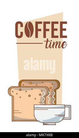 Coffee time card - Stock Photo