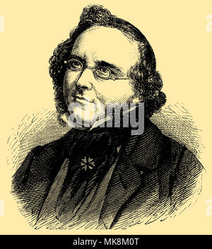 Ludwig Bechstein (born November 24, 1801 , died May 14, 1860 ), - Stock Photo