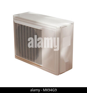 Air condition condenser isolated on white background - Stock Photo