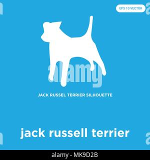 jack russell terrier vector icon isolated on blue background, sign and symbol - Stock Photo