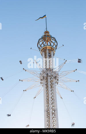 Luna Park Tivoli Grona Lund  is an amusement park in Stockholm, Sweden - Stock Photo