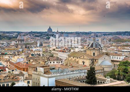 Rome skyline, Italy - Stock Photo