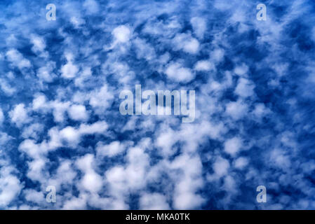 Clouds view from airplane window - Stock Photo