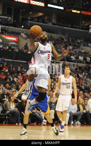 Los Angeles, California, USA. 9th Jan, 2011. Los Angeles Clippers guard BARON DAVIS #5 in action against the Golden State Warriors during the game at the Staples Center. The Clippers beat the Warriors, 105-91. Credit: csm/Alamy Live News - Stock Photo