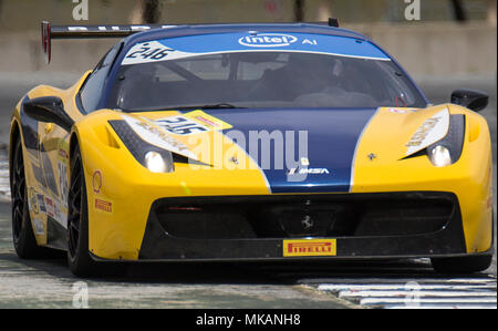 Monterey, CA, USA. 6th May, 2018. A. #246 Martin Burroues coming out of turn 11 during the Ferrari Challenge 458 Race 2 at WeatherTech Raceway Laguna Seca Monterey, CA Thurman James/CSM/Alamy Live News