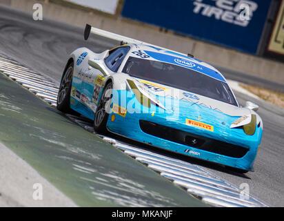Monterey, CA, USA. 6th May, 2018. A. # 269 Kresimir Penavic coming out of turn 11 during the Ferrari Challenge 458 Race 2 at WeatherTech Raceway Laguna Seca Monterey, CA Thurman James/CSM/Alamy Live News
