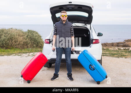 open trunk of car ready for packing luggage bags and dogs travelling stock photo 138016303 alamy. Black Bedroom Furniture Sets. Home Design Ideas