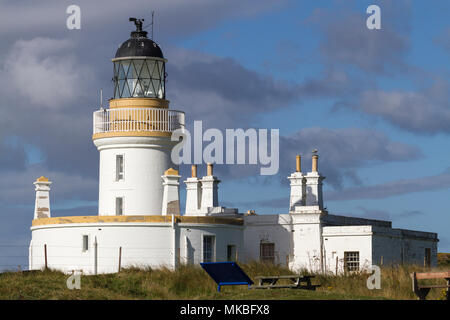 Chanonry Point lighthouse on the  Moray Firth between Fortrose and Rosemarkie, Black Isle, Scotland, UK - Stock Photo