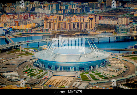 Russia Saint Petersburg 29 April 2018 Aerial View Of