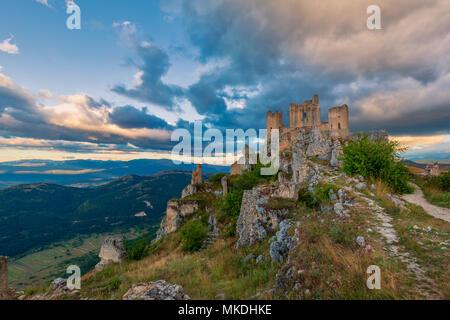 Castle Rocca Calascio, Gran Sasso, Abruzzo, Italy - Stock Photo