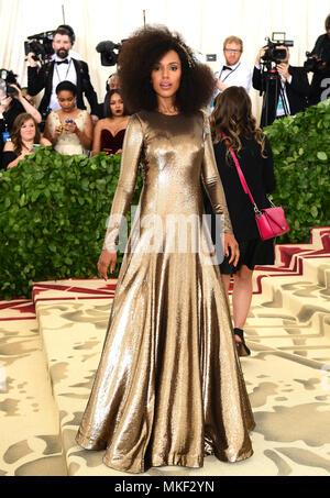 Kerry Washington attending the Metropolitan Museum of Art Costume Institute Benefit Gala 2018 in New York, USA. - Stock Photo