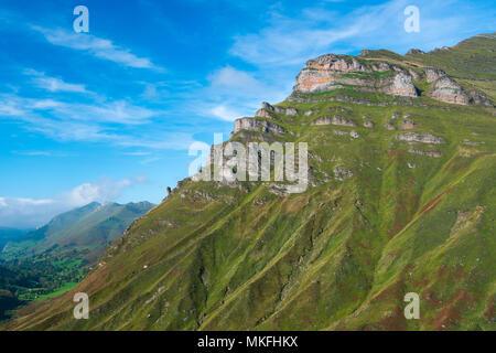 View from Mirador de Covalruyu, Miera Valley, Valles Pasiegos, Cantabria, Spain