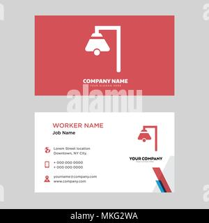 Boat Bell business card design template, Visiting for your company, Modern horizontal identity Card Vector - Stock Photo
