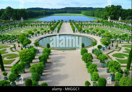 L'Orangerie in the Gardens of Versailles, France - Stock Photo