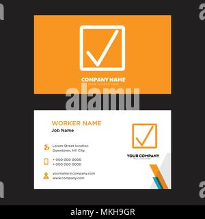 Correct business card design template, Visiting for your company, Modern horizontal identity Card Vector - Stock Photo