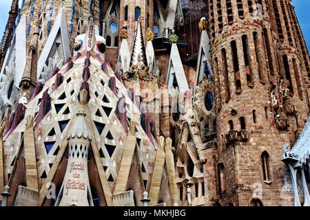 La Sagrada Familia, Barcelona, Spain. - Stock Photo