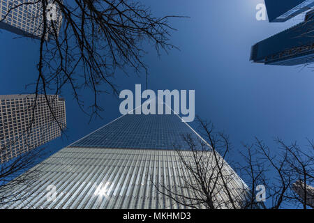 Looking up at One World Trade Center - Stock Photo