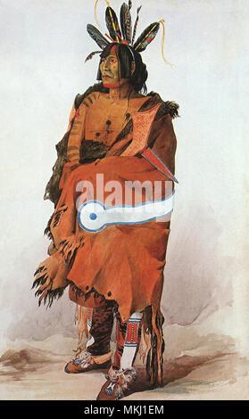 Pachtuwa-Chta, an Arikara warrior - Stock Photo