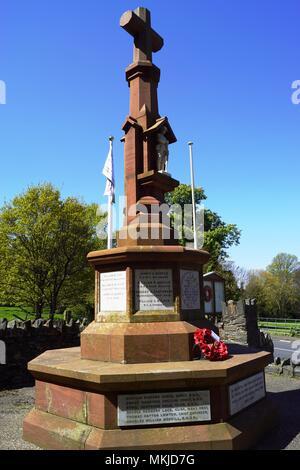 The War Memorial, Lezayre, Isle of Man - Stock Photo